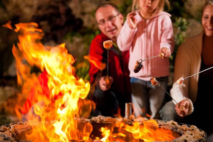 barbecue con famiglia
