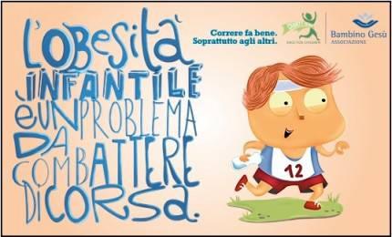 Locandina Charity Run contro l'obesità infantile
