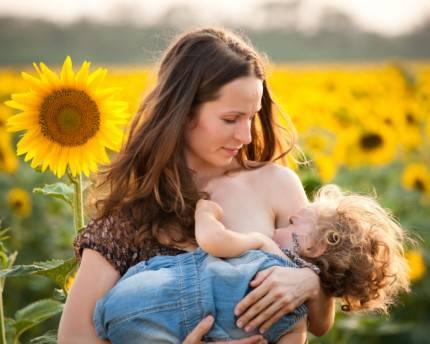 mamma-allattamento-girasoli
