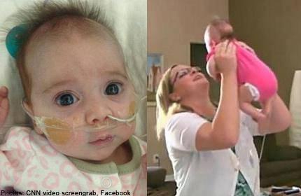 Erica abbraccia la sua bambina, nata sana dopo il cesareo post mortem