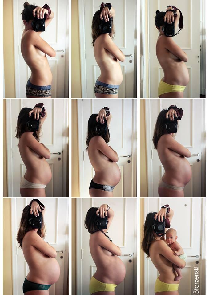 Racconto fotografico di una gravidanza