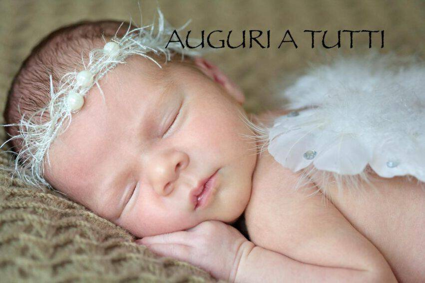 bambino angelo auguri