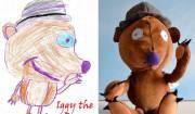 realizzare pupazzi dai disegni dei bimbi