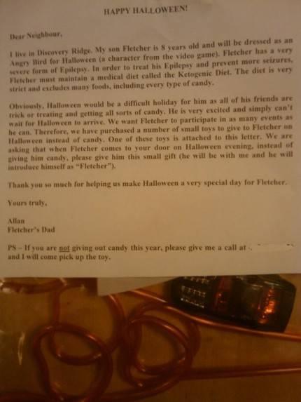 Lettera del padre di un bambino malato di epilessia