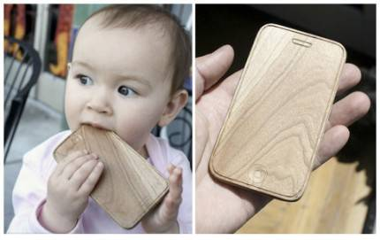 iphone in legno da mordere