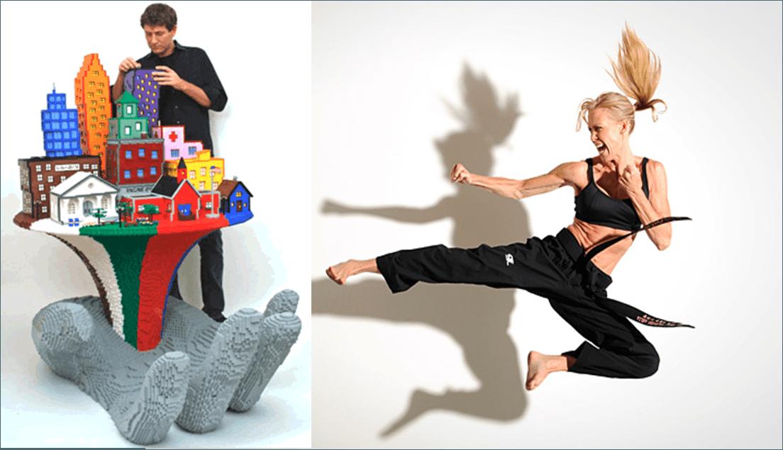 Artista lego e stuntwoman