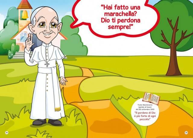 Papa francesco insegna il vangelo ai bimbi