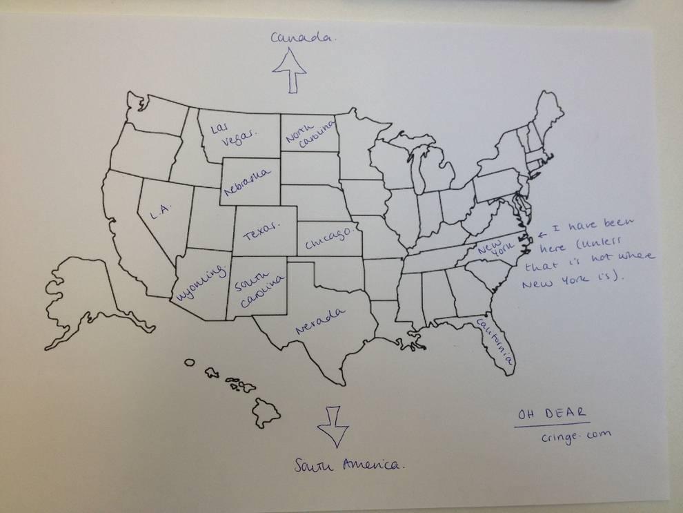 inglesi non conoscono stati americani