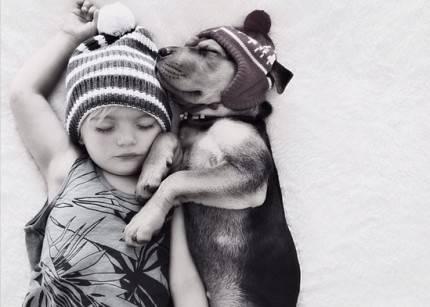 beau e theo bimbo e cane amici
