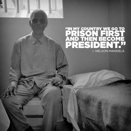 nelson mandela prigionia