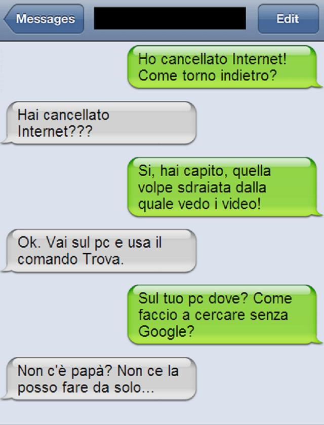 sms internet cancellato