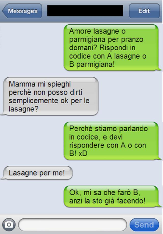 sms lasagne