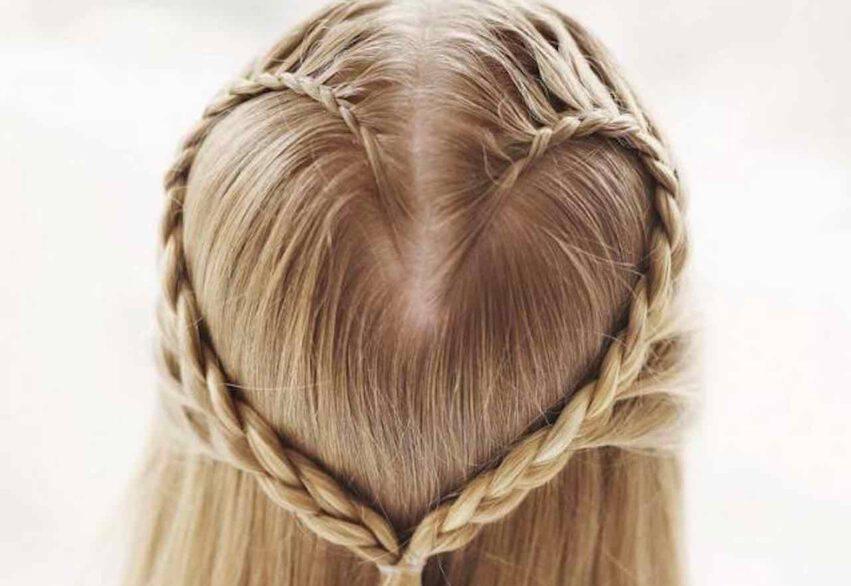 bambine capelli lunghi trecce
