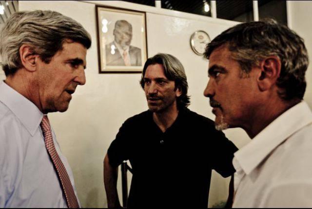 George Clooney insieme a Kerry per il Sudan