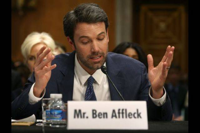 Ben Affleck in commissione al Senato USA