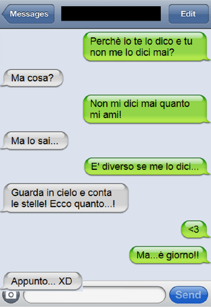 sms stelle amore