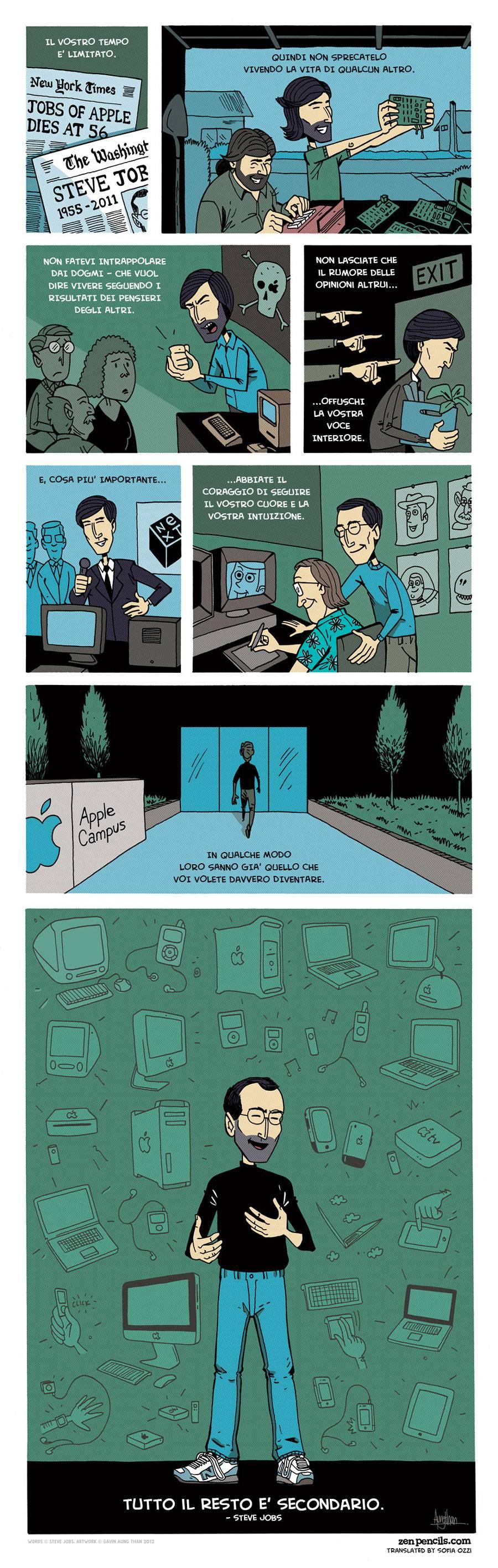 vignetta zen pencils su steve jobs