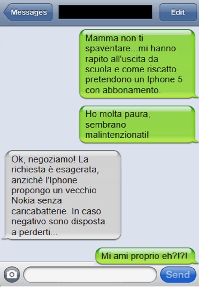 sms riscatto