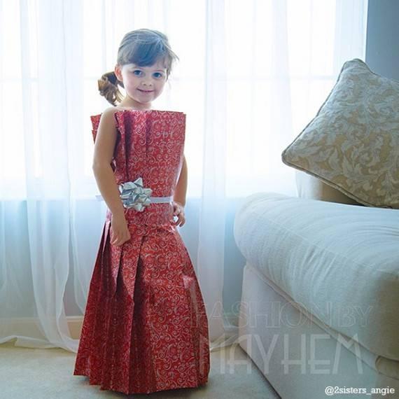 vestito rosso lungo carta bimba