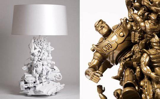 robot lampade