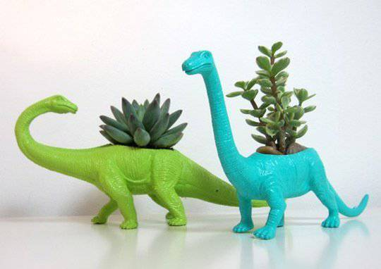 dinosauri porta piante