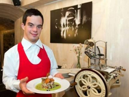 cameriere con sindrome down