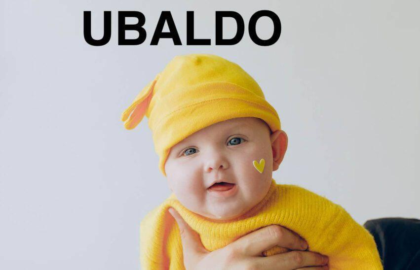 bambino nome ubaldo
