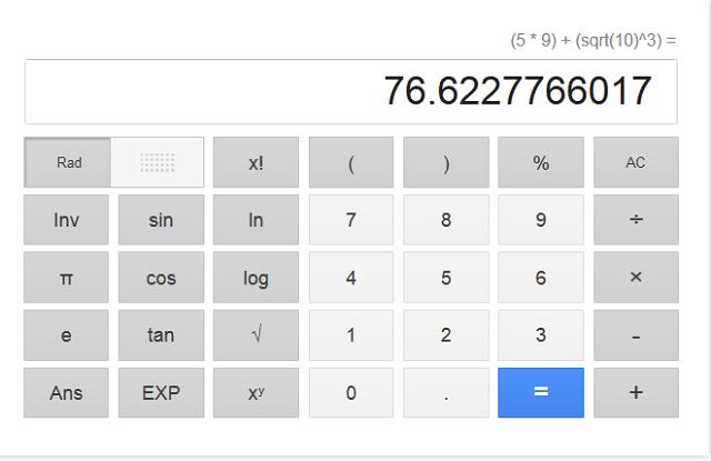 calcolatrice google