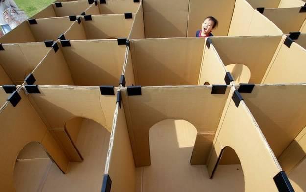 labirinto cartone
