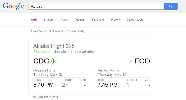 google ricerca volo