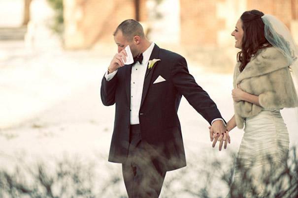 sposo con fazzoletto