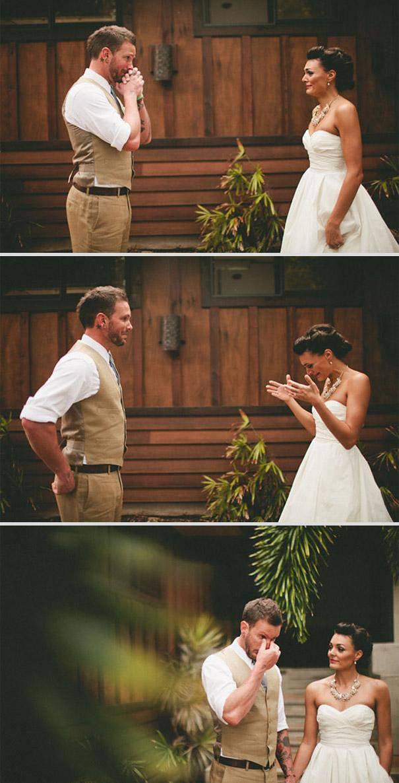 sposo e sposa al matrimonio