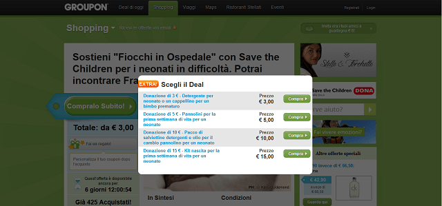 groupon per savethechildren