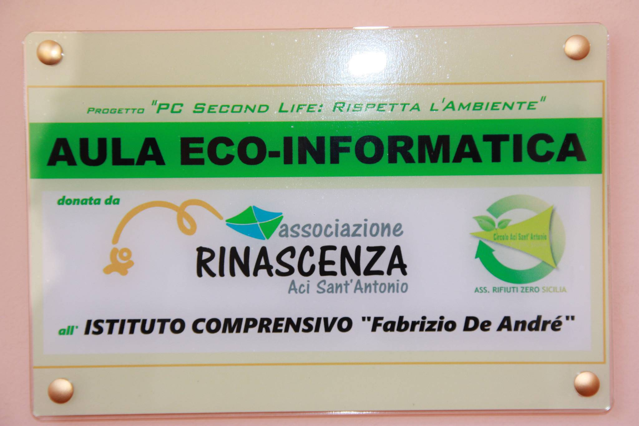 targa aula eco-informatica