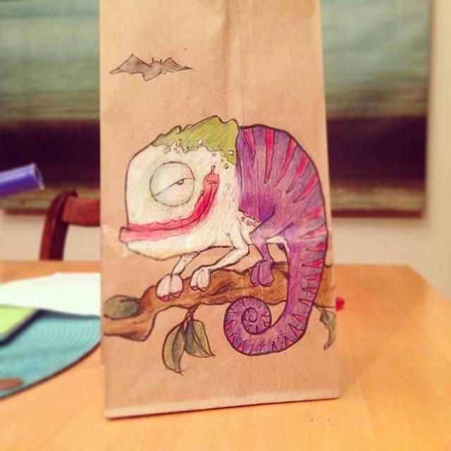 pacchetto cibo decorato