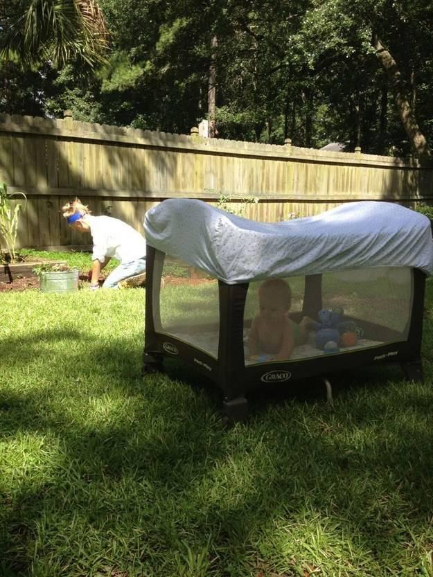 idee creative copertura box bambino contro insetti