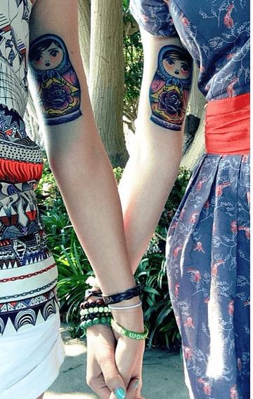 tatuaggio matrioska