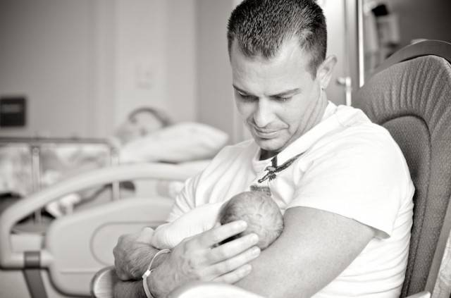neonato e papà