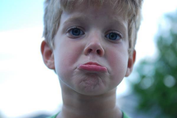 bambino deluso