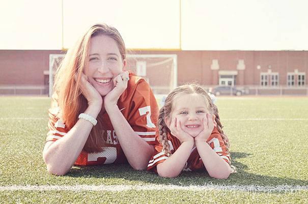 mamma e figlia tifose