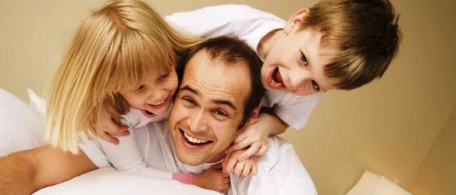 padre con figli