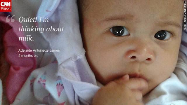 neonato pensieroso