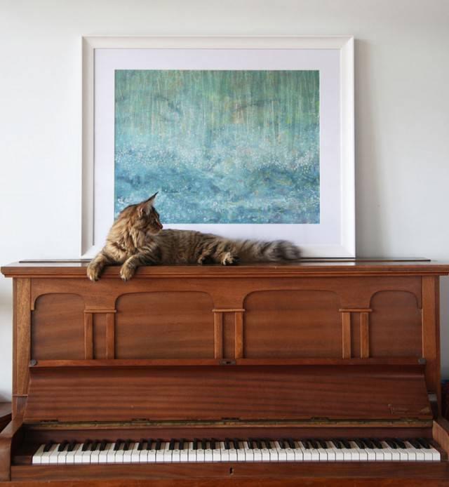 quadro su pianoforte