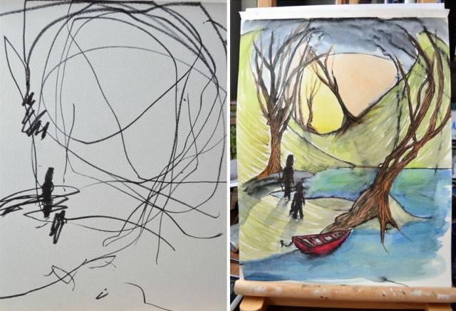 """""""Ci vuole una vita per imparare a disegnare come un bambino"""": una mamma e sua figlia ci sono riuscite! (FOTO e VIDEO)"""