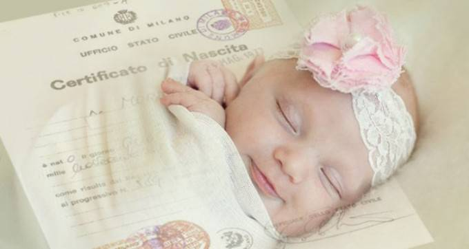 certificato nascita