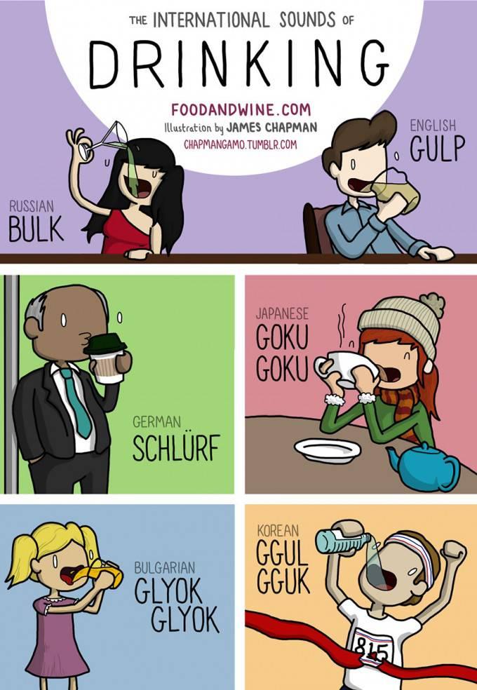 vignetta persone bevono