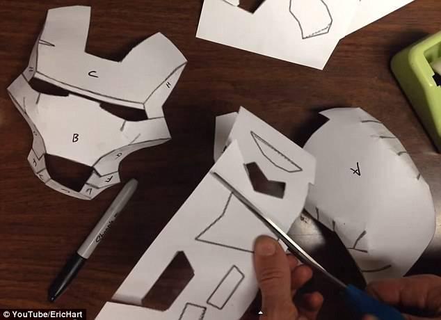 costume iron man di cartone