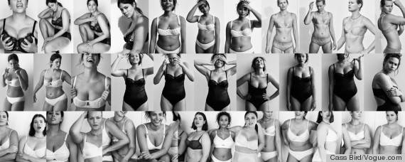 vogue collage modelle curvy