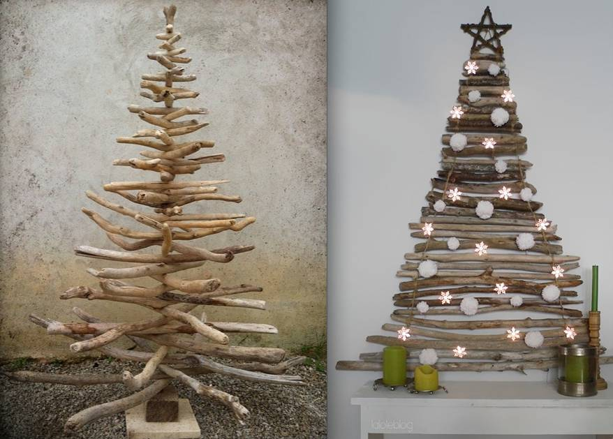 Albero di natale 21 idee originali per decorarlo - Rami secchi decorativi dove comprarli ...