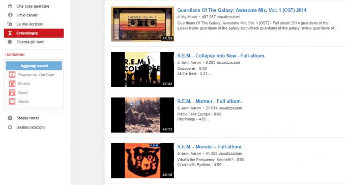 cronologia youtube